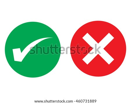 true or false symbols vector