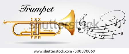 trumpet and music notes...