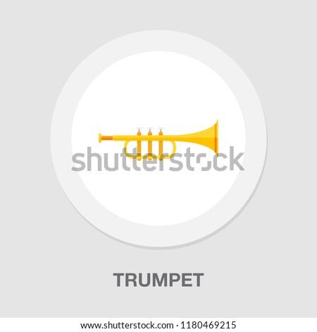 trumpet icon - music instrument - jazz music icon