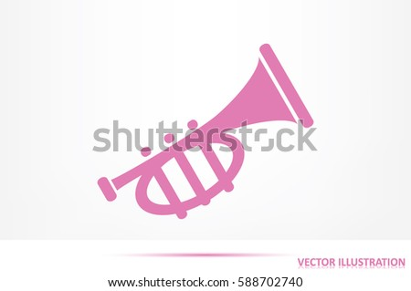 Trumpet icon vector illustration eps10.