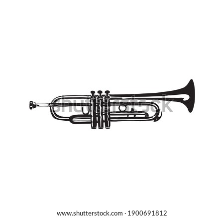 trumpet icon with hand drawn style Сток-фото ©