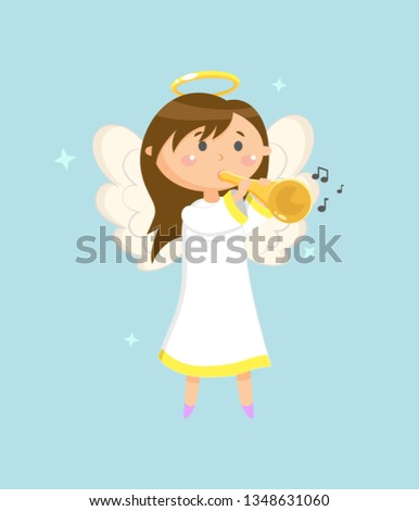 trumpeter on holiday vector