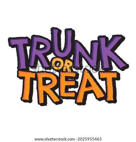 Trunk or Treat vector text headline halloween