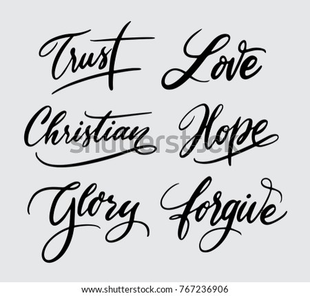Trust and glory typography, calligraphy, hand written, handwriting, art, artwork, artistic, uppercase, lowercase, swash, spontaneously, spontaneous, logotype, font, letter, lettering, title, symbol