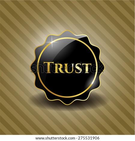 Trust black shiny badge