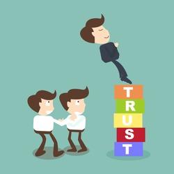 Trust building business concept