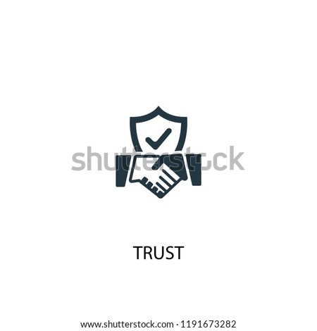 trust icon. Simple element illustration. trust concept symbol design. Can be used for web and mobile.
