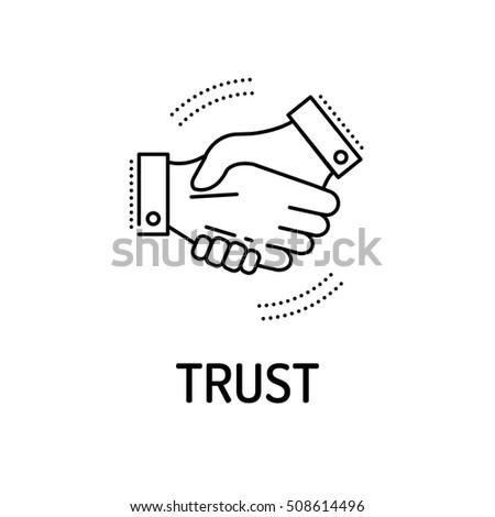 TRUST Line icon Foto d'archivio ©