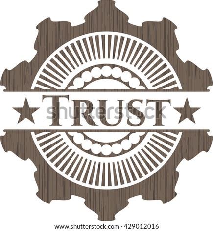 Trust realistic wood emblem