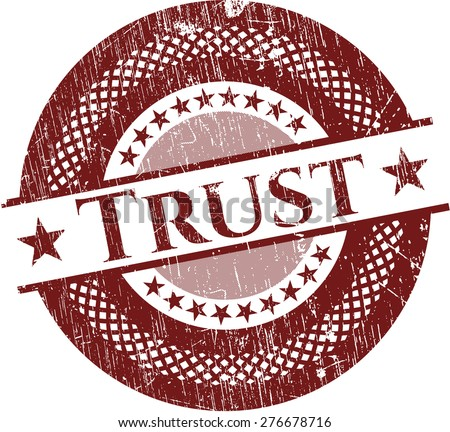 Trust red rubber stamp