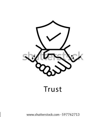 Trust Vector Line Icon Foto d'archivio ©