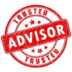 Trusted advisor business rubber stamp vector eps illustration