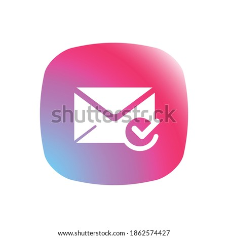 Trusted Sender - App Icon Button Stockfoto ©