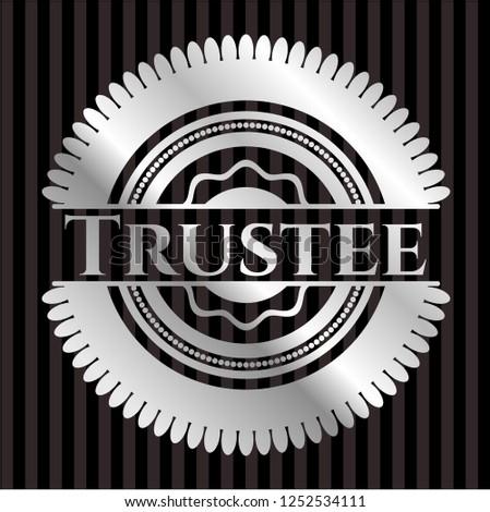 Trustee silvery emblem