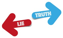 Truth and lie color arrows