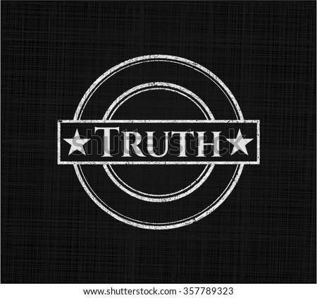 Truth chalk emblem