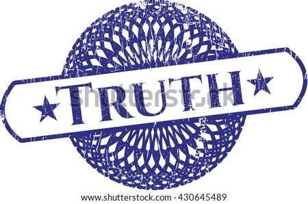 Truth rubber grunge stamp