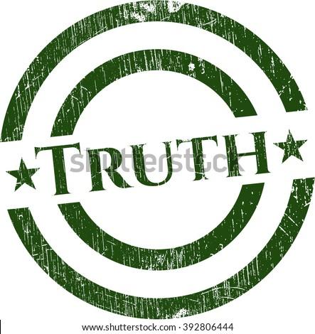 Truth rubber grunge texture stamp