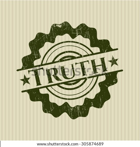 Truth rubber stamp
