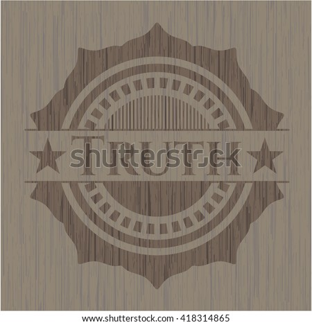 Truth wooden emblem