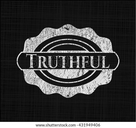 Truthful chalk emblem