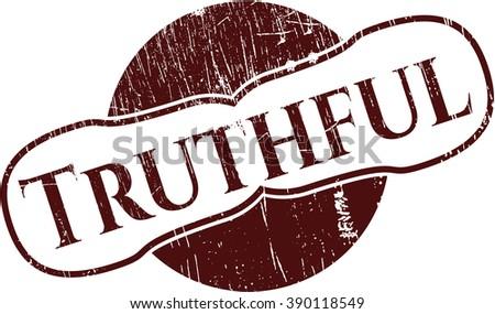 Truthful rubber grunge stamp
