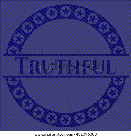 Truthful with jean texture