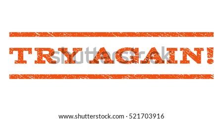try again  watermark stamp
