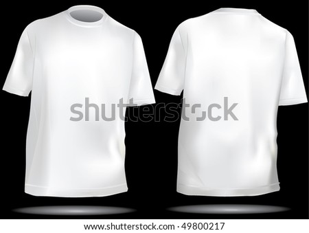 TShirt ,shirt in white - stock vector