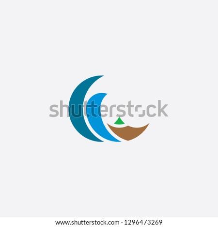 tsunami water wave logo icon