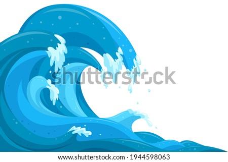 tsunami waves background flood