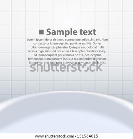 Elegant Bathroom Monochrome Black And White Tiles Vector Seamless Pattern