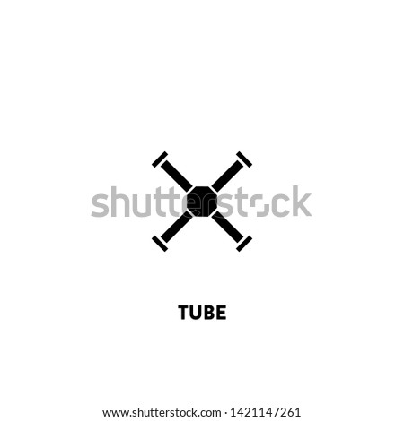 tube icon vector. tube sign on white background. tube icon for web and app