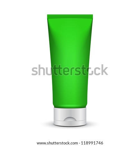 Tube Of Cream Or Gel Green Clean. Ready For Your Design. Product Packing Vector EPS10