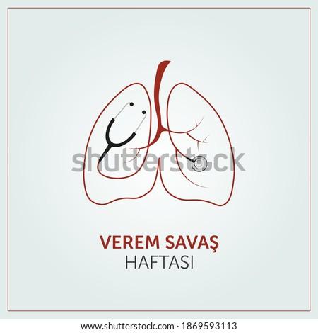 Tuberculosis war week , Vectoral illustration. Stok fotoğraf ©