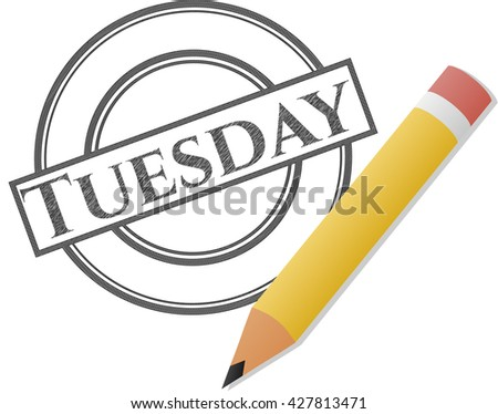 Tuesday pencil draw