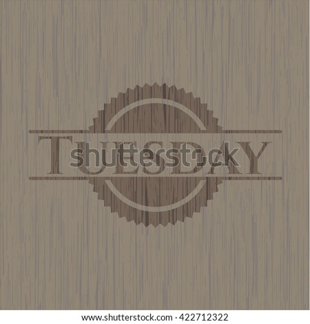 Tuesday wood emblem. Vintage.