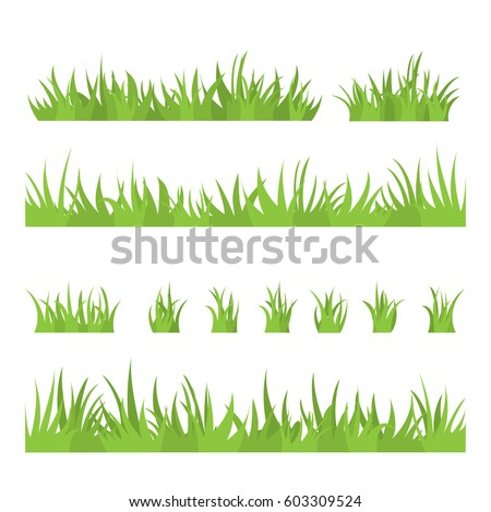 tufts of grass a set of design