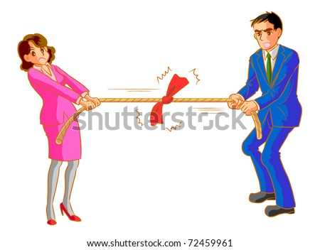 Tug of war between men and women