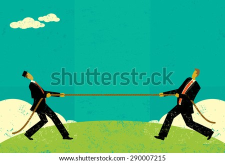 tug of war businessmen