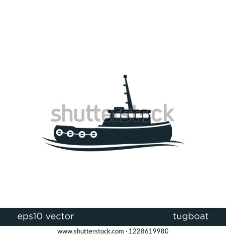 tugboat shipping icon transportation symbol logo template
