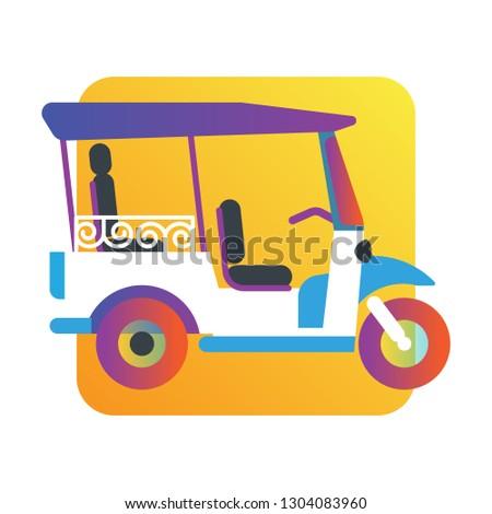 Safety Stock - Tuk tuk asian city traditional taxi drive