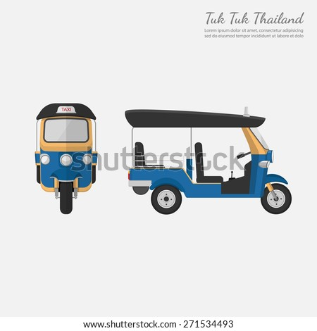 Tuk Tuk in Thailand.vector