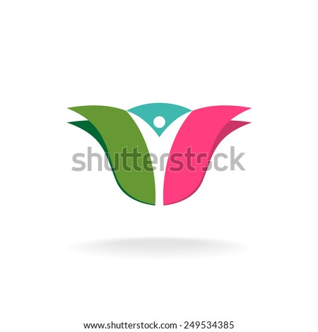 Tulip flower bud with man silhouette inside Stock photo ©