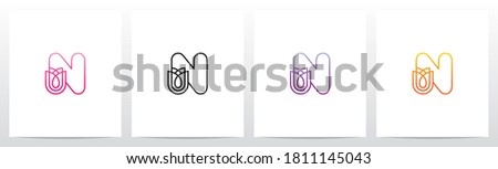 Tulip Flower On Letter Logo Design N Foto stock ©