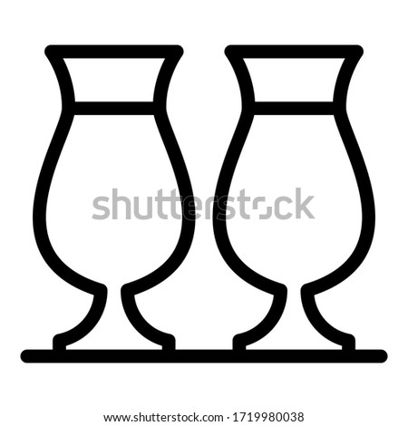 Tulip glasses icon. Outline tulip glasses vector icon for web design isolated on white background Stock photo ©