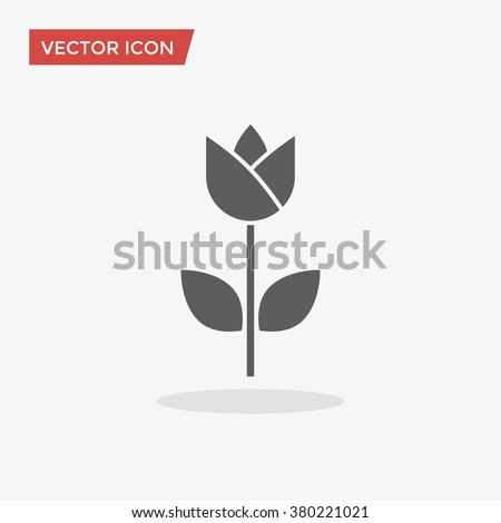 Tulip Icon in trendy flat style isolated on grey background. Plant symbol for your web site design, logo, app, UI. Vector illustration, EPS10.