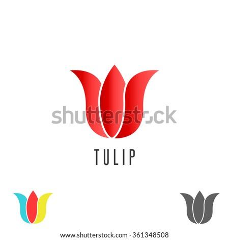 tulip logo flower  mockup