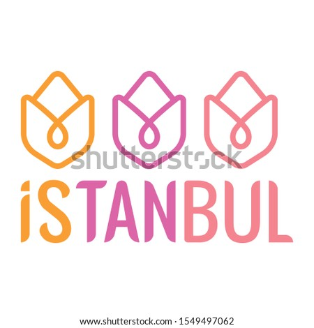 tulips and istanbul logo three