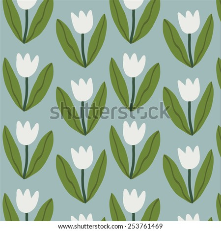 Tulips flowers pattern.